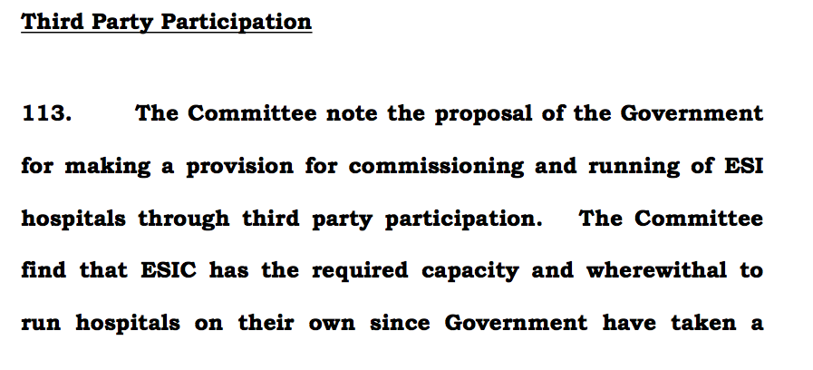 Para 113 page 70 PSC report