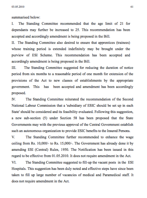 Parliament passes Bill Page 61