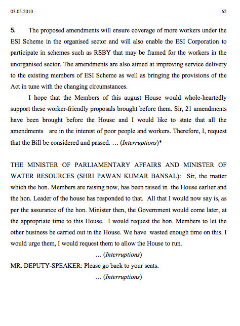 Parliament passes Bill Page 62