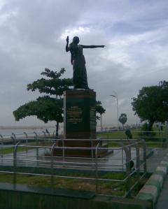 The statue of Kannahi on the Marina Beach