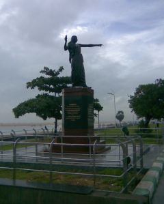 The statue of Kannahi on the Marina Beach