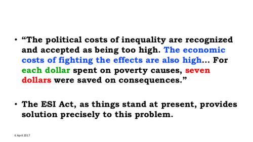 Inequalty cost