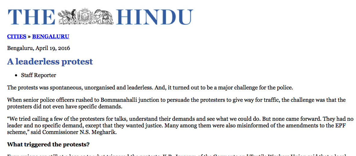 A leaderless protest - The Hindu